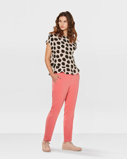 PANTALON REGULAR FIT FEMME Rose corail