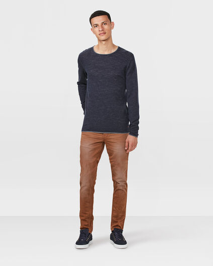 PANTALON SKINNY TAPERED HOMME Brun Cannelle