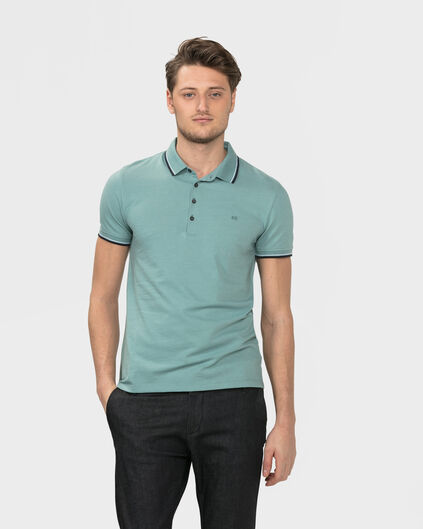POLO STRETCH HOMME Vert menthe