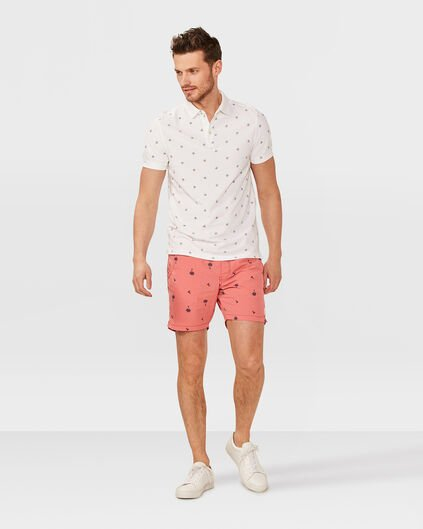 SHORT DE BAIN PALM TREE PRINT HOMME Rose corail