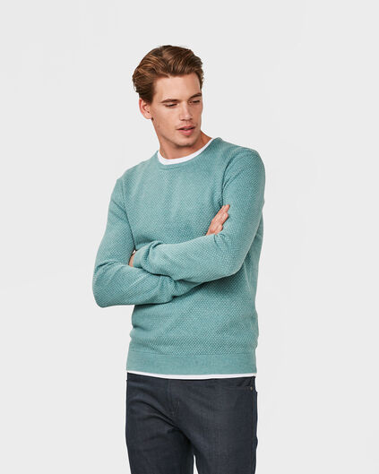 PULL STRUCTURE HOMME Vert menthe