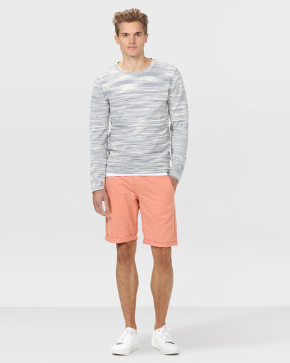 BERMUDA REGULAR FIT CHINO HOMME Rose saumon
