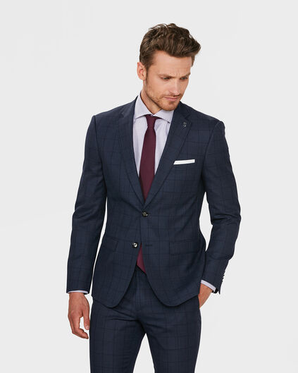 BLAZER REGULAR FIT BLACKBURN À CARREAUX HOMME Bleu