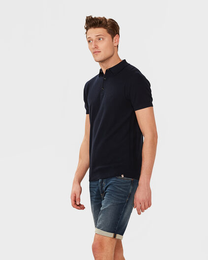 POLO STRUCTURE HOMME Bleu marine