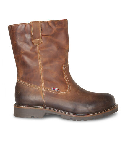 BOTTINES LEATHER HOMME Cognac