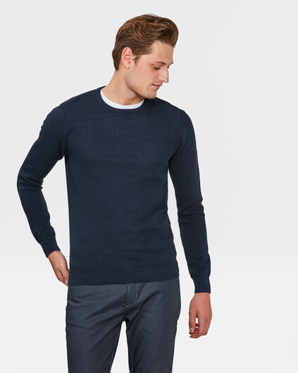 PULL STRUCTURE HOMME Bleu marine