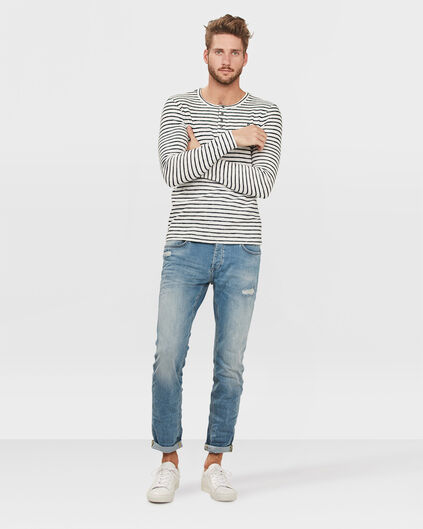 JEANS SLIM TAPERED SUPER STRETCH HOMME Bleu eclair