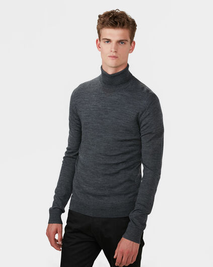 PULL A COL ROULE MERINO WOOL HOMME Gris
