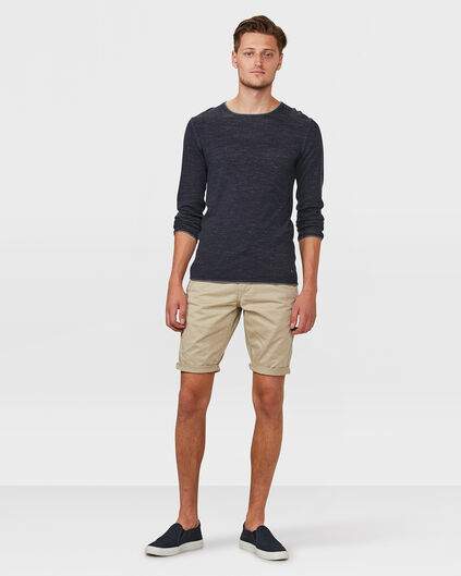SHORT REGULAR FIT CHINO HOMME Brun clair