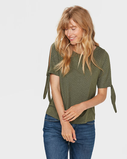 TOP COLD SHOULDER FEMME Vert olive