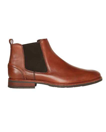 BOTTINES CHELSEA REAL LEATHER HOMME Cognac