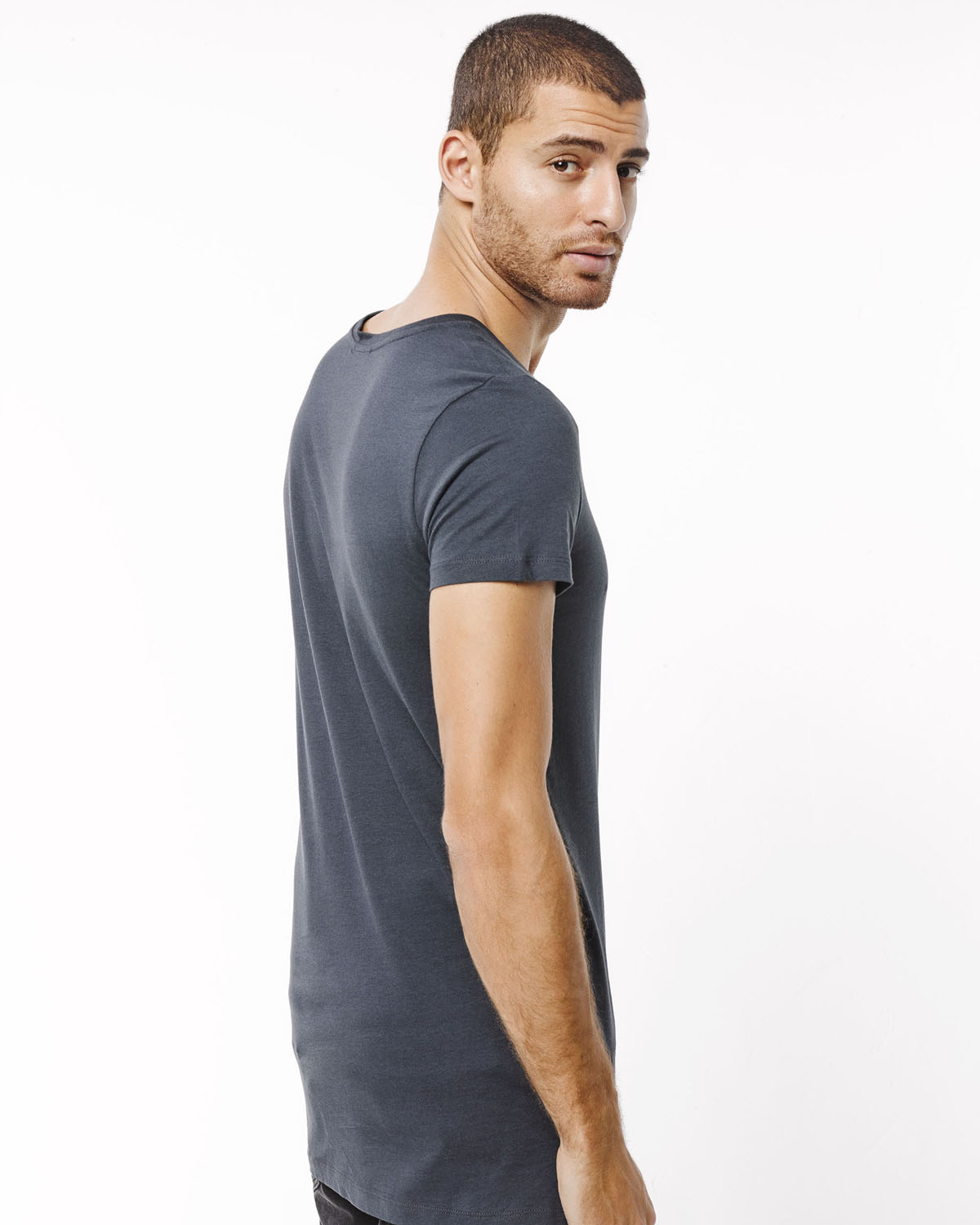 long fit t shirt homme 78666191 we fashion. Black Bedroom Furniture Sets. Home Design Ideas