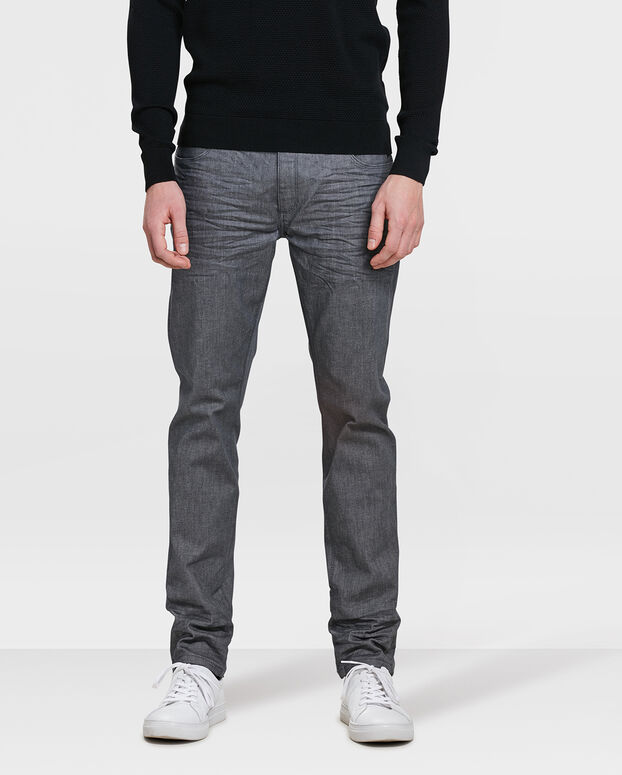 JEANS SKINNY TAPERED SUPER STRETCH HOMME Gris