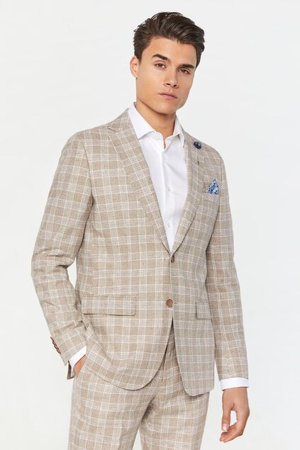 Blazer regular fit à carreaux Clinton homme Imprimé