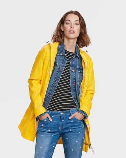 IMPERMÉABLE REGULAR FIT FEMME Jaune vif