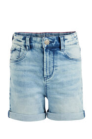 Short denim fille_Short denim fille, Bleu eclair