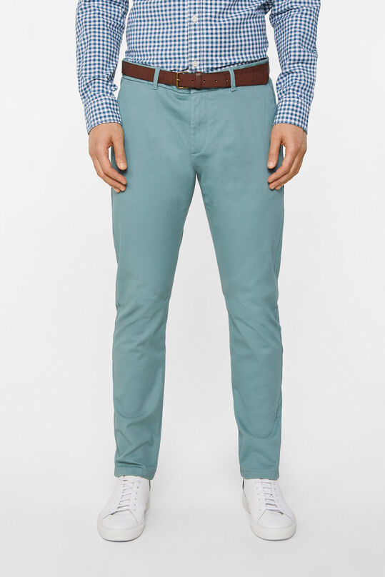 Pantalon chino slim tapered uni homme Vert gris
