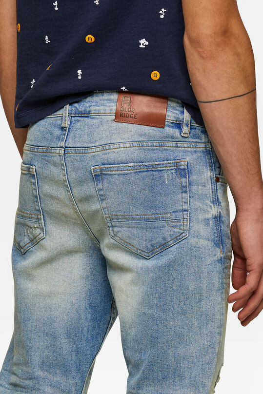 Jeans skinny tapered comfort stretch homme Bleu eclair