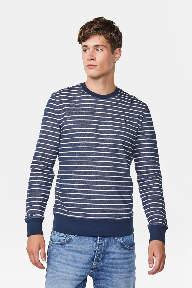 Sweat-shirt striped homme Bleu marine