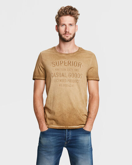 T-SHIRT PRINT HOMME Or
