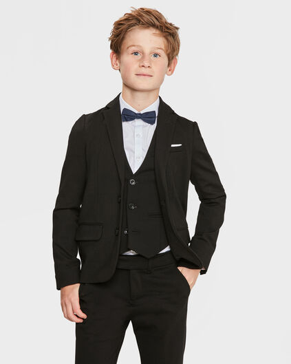 BLAZER DE COSTUME REGULAR FIT GARÇON Noir
