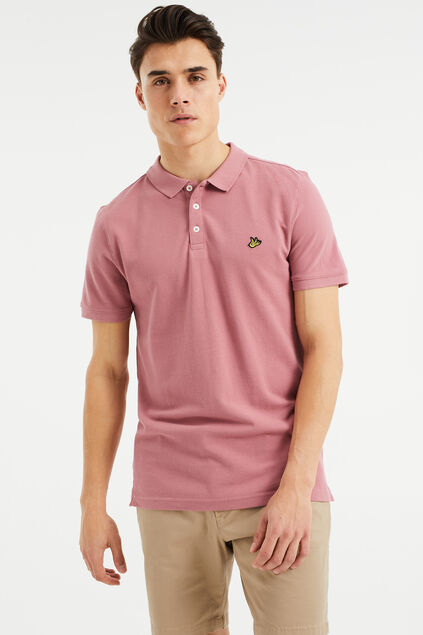 Polo homme Vieux rose