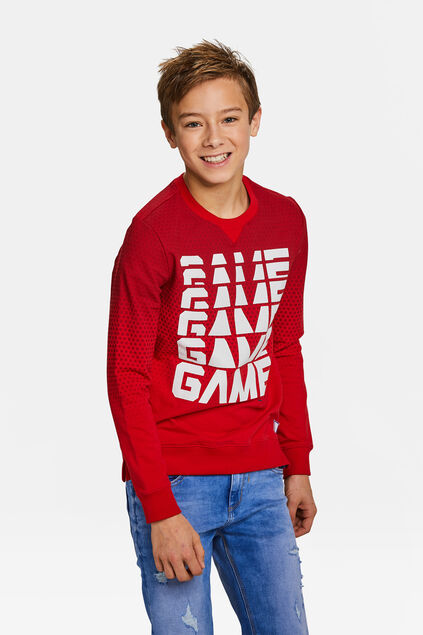 Sweat-shirt à motif game over garçon Rouge