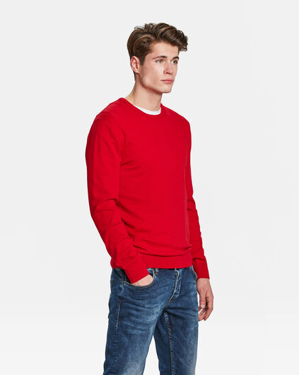 PULL HOMME Rouge vif