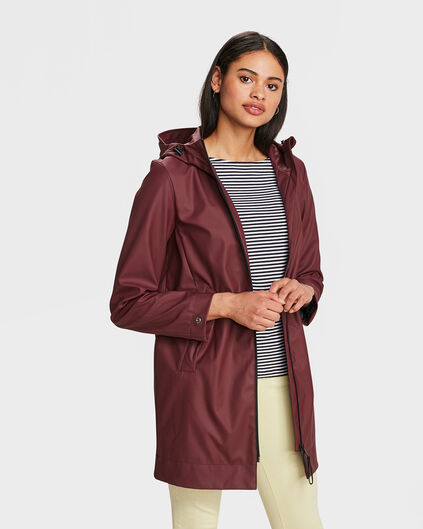 IMPERMÉABLE REGULAR FIT FEMME Bordeaux