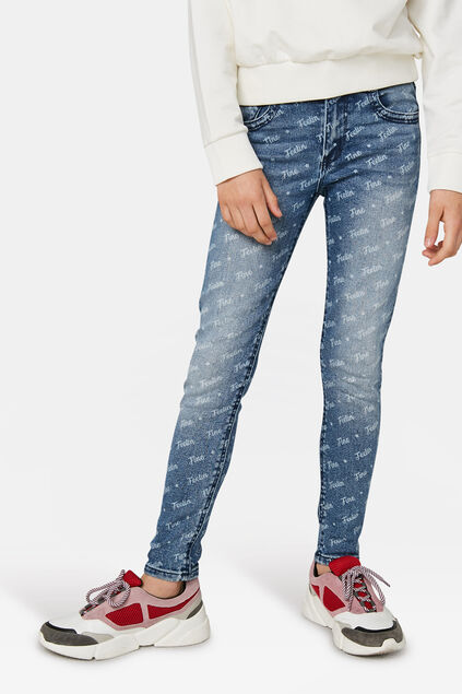 Jeans relaxed fit fille Bleu