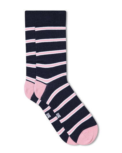 CHAUSSETTES RAYÉES HOMME Rose