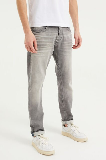 Jeans athletic fit de jog denim homme Gris clair