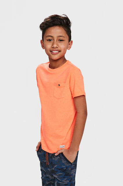 T-SHIRT ONE POCKET Orange
