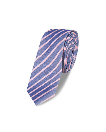 CRAVATE STRIPE DESSIN HOMME Rose corail