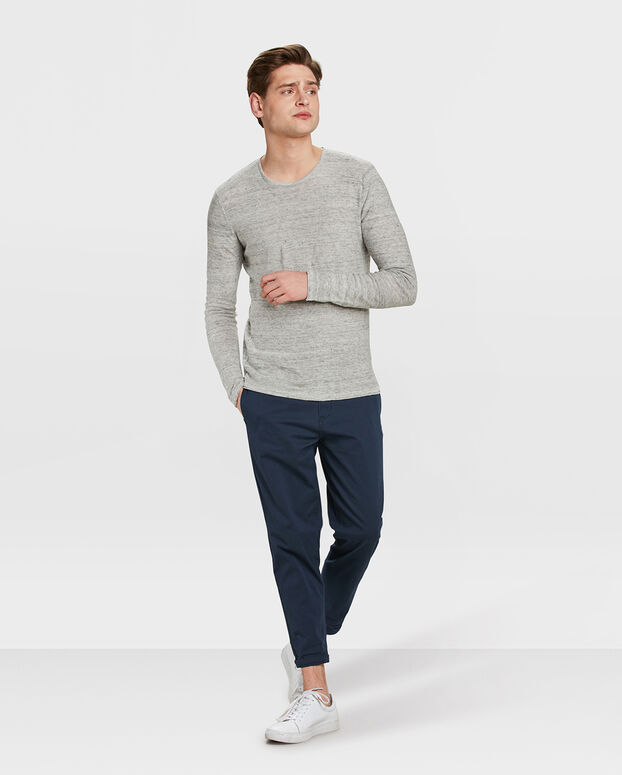 PULL LINEN HOMME Gris