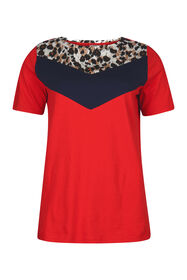 T-shirt colour block femme_T-shirt colour block femme, Rouge