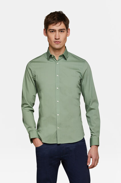 CHEMISE SLIM FIT STRETCH HOMME Vert menthe