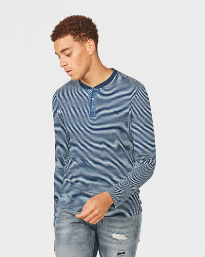T-SHIRT BLUE RIDGE STRIPE HOMME Indigo