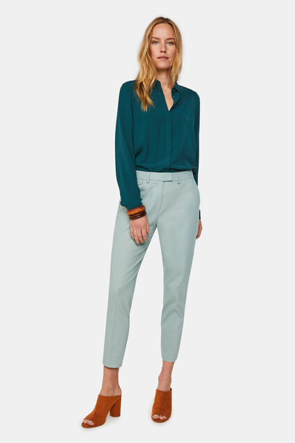 Chino slim fit femme Vert menthe