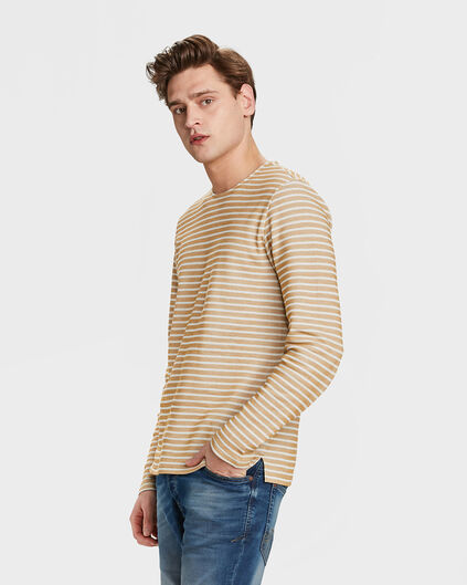 SWEAT-SHIRT STRIPED HOMME Or