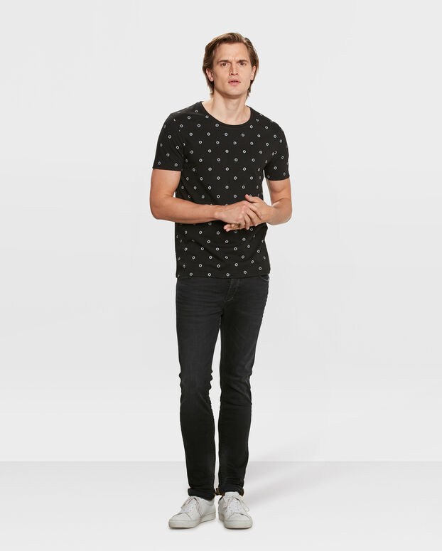 T-SHIRT SLIM FIT GRAPHIC PRINT HOMME Noir
