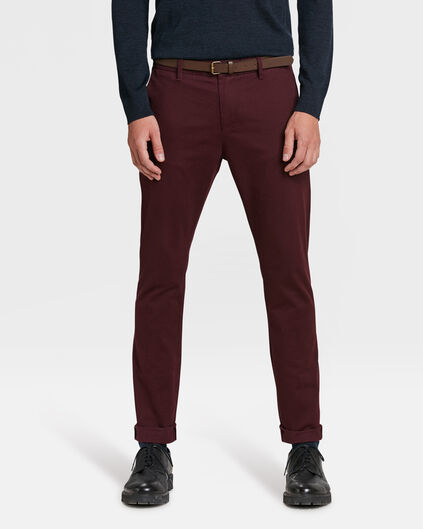 CHINO SKINNY FIT HOMME Bordeaux
