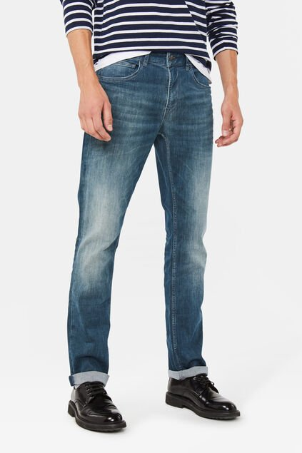 Jeans regular straight stretch homme Bleu gris