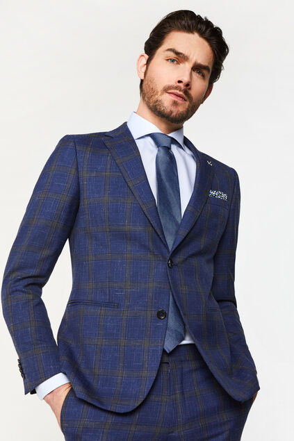 Blazer slim fit à carreaux Celso homme Imprimé