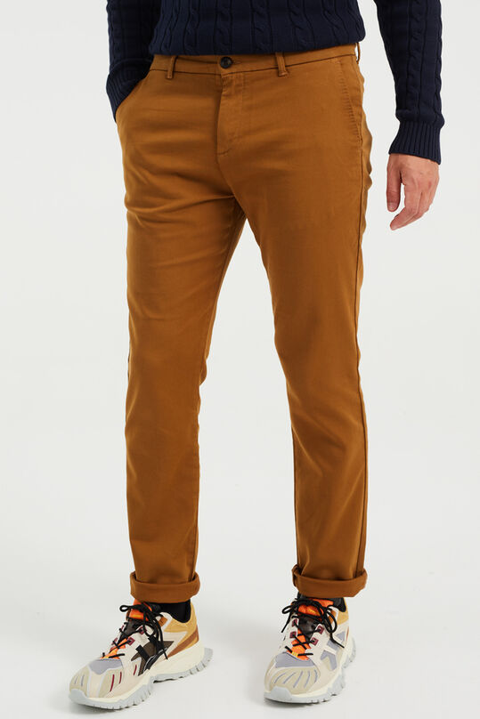 Chino slim fit homme Brun clair
