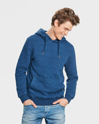 SWEAT-SHIRT QUILTED HOODED HOMME Bleu foncé