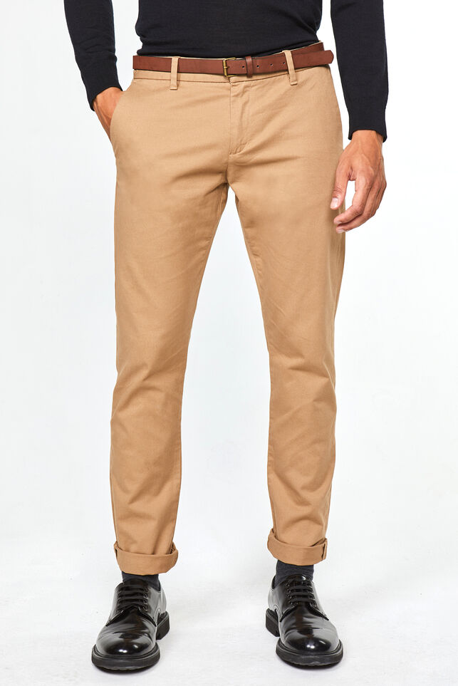 Chino slim tapered homme Beige