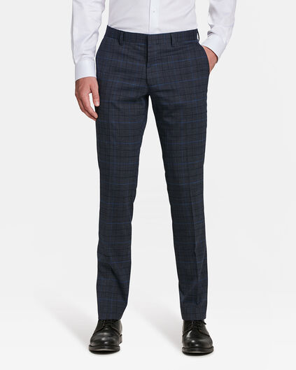 PANTALON SLIM FIT CHESTERFIELD HOMME Bleu marine