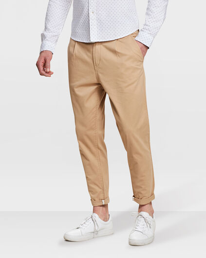 PANTALON CHINO LOOSE FIT HOMME Caramel