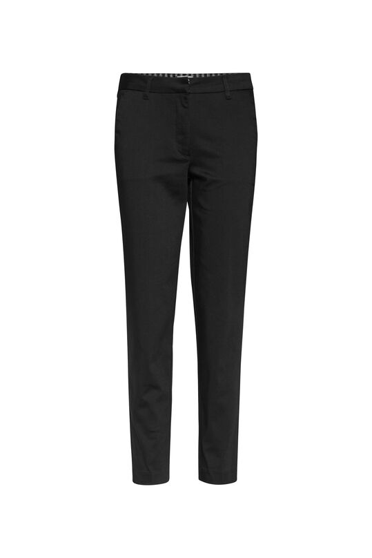 Chino slim cropped femme Noir